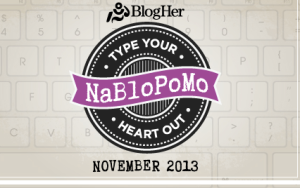 NaBloPoMo:  Not for the faint of heart.