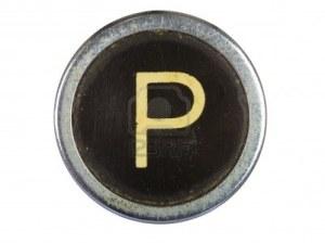 10567123-vintage-typewriter-letter-p-isolated-on-white