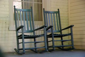 Due to today's topic of AGING, I have inserted a sweet picture of two rocking chairs.