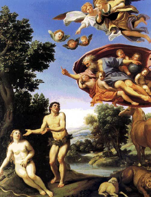 Adam and Eve by Domenichino courtesy of the Web Art Gallery