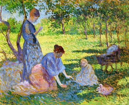 Poissy, Women in a Garden-1